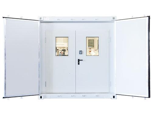 Werksattcontainer doppelte Sicherheitstür - AWB Lampertheim