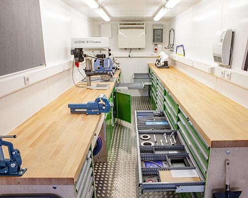 Werksattcontainerausbau professionell - AWB Lampertheim